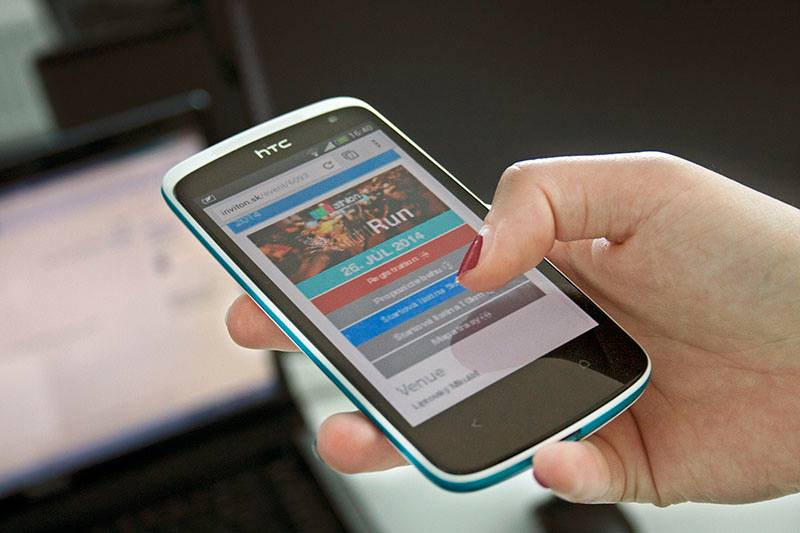 Formulár optimalizovaný pre mobilné zariadenia